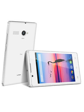 Lava Flair P1 4 Inch Display, Kitkat, 3G With 2GB Internal Memory - White