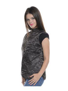 Lavennder Cotton Quilt Reversible Jacket - Purple and Brown