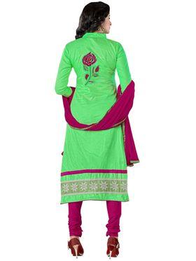 Khushali Fashion Glaze Cotton Embroidered Dress Material -Mcrdmhk804