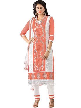 Khushali Fashion Glaze Cotton Embroidered Dress Material -Mcrdmhk806