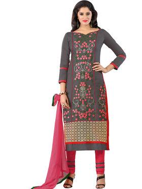 Khushali Fashion Glaze Cotton Embroidered Dress Material -Mcrdmhk809