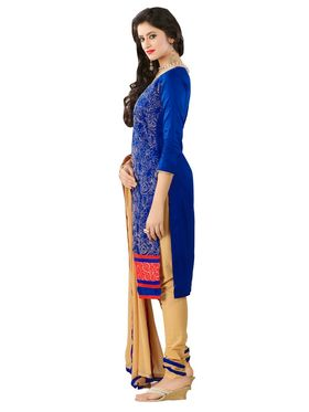 Khushali Fashion Glaze Cotton Embroidered Dress Material -Mcrdmhk810