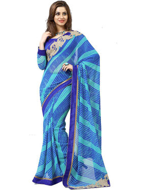 Nanda Silk Mills Embroidered Work Printed Saree With Blouse Piece _MK-2307