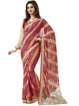 Nanda Silk Mills Embroidered Work Printed Saree With Blouse Piece _MK-2315