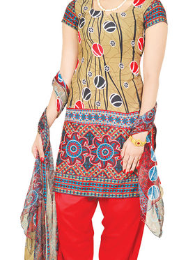 Manasvi Printed Dress Material - Set of 7