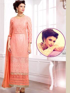 Viva N Diva Pure Georgette Embroidered Unstitched Suit Mehreem-7771