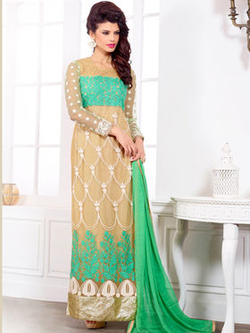 Viva N Diva Pure Georgette Embroidered Unstitched Suit Mehreem-7774