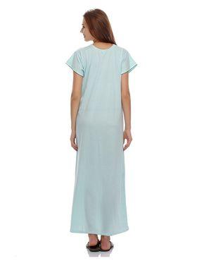 Clovia Cotton Blend Solid Nightsuit -NS0397P03