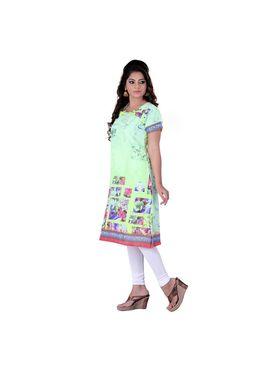 Viva N Diva Cotton Floral Print Kurtis -Navya-Vnd-25