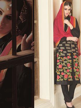 Viva N Diva Semi Stitched Georgette Floral Embroidered Semi Stitched Suits Nimaya-704