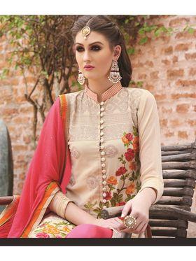 Viva N Diva Semi Stitched Georgette Floral Embroidered Semi Stitched Suits Nimaya-705