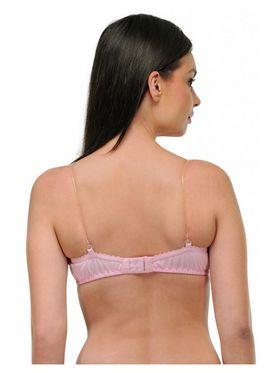 Oleva Cotton Plain Bra - Light Pink - OLG_L_B4