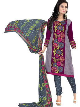 Pack of 5 Priya Fashions Printed Cotton Unstitched Dress Material -PF5S01