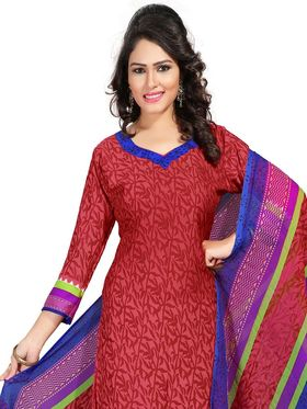Khushali Fashion Crepe  Printed Unstitched Dress Material -PFCS502