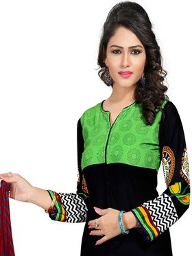 Khushali Fashion Crepe  Printed Unstitched Dress Material -PFCS503