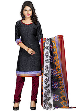 Khushali Fashion Crepe  Printed Unstitched Dress Material -PFCS506