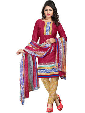 Khushali Fashion Crepe  Printed Unstitched Dress Material -PFCS507