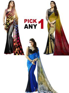 Thankar Printed Designer Georgette Sarees -Pick Any One