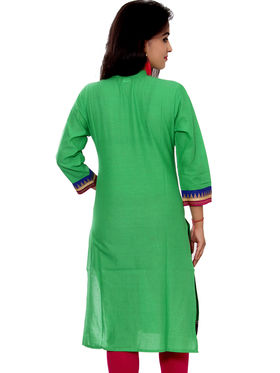 Set of 4 Priya Fashions Sanganeri & Jaipuri Cotton Printed Kurtis - PF101K4