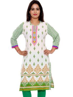 Set of 6 Priya Fashions Sanganeri & Jaipuri Cotton Printed Kurtis - PF103K6
