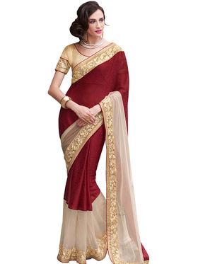 Indian Women Crepe Jacquard  Saree -Ra10509