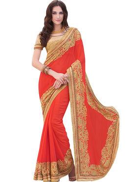 Indian Women Georgette  Saree -Ra10517