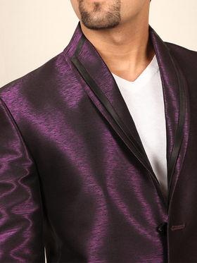 Runako Solid Regular Full sleeves Party Wear Blazer For Men - Purple