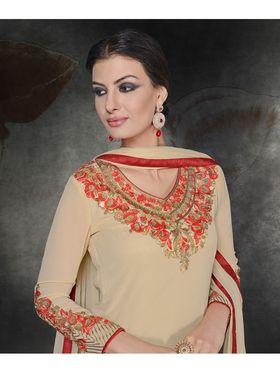 Viva N Diva Georgette Embroidered Semi Stitched Suit Rihanaa-1110