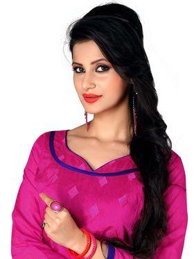 Khushali Fashion Chanderi Embroidered Unstitched Dress Material -SDSN8001