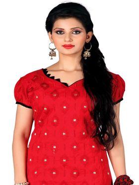 Khushali Fashion Chanderi Embroidered Unstitched Dress Material -SDSN8003