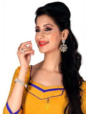 Khushali Fashion Chanderi Embroidered Unstitched Dress Material -SDSN8007