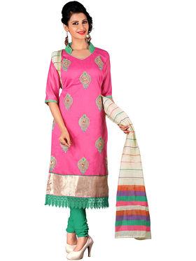 Khushali Fashion Chanderi Embroidered Unstitched Dress Material -SDSN8012
