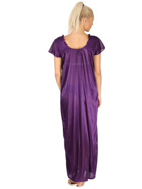 Branded Satin Plain Nightwear -SLS-FNG-5-7