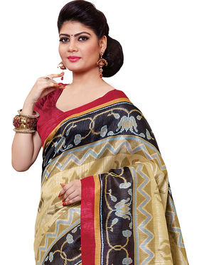 Shonaya Printed Handloom Cotton Silk Saree -Snkvs-3006-A