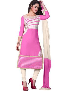 Khushali Fashion Glaze Cotton Embroidered Dress Material -Srsrh7505