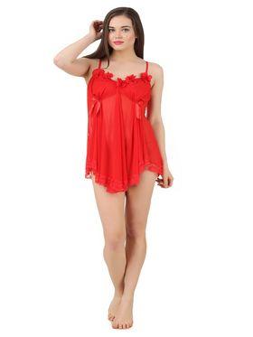 Fasense Power Net Solid Nightwear Babydoll Slip -SS078C2