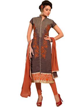 Khushali Fashion Chanderi Embroidered Dress Material -Ssblfr1007