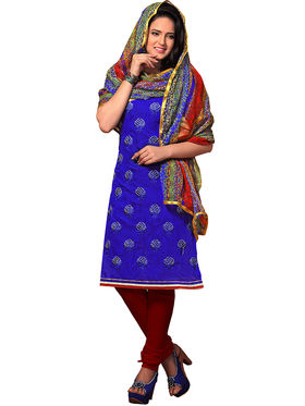 Khushali Fashion Chanderi Embroidered Unstitched Dress Material -SSKV41003