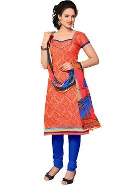 Khushali Fashion Chanderi Embroidered Unstitched Dress Material -SSKV41008