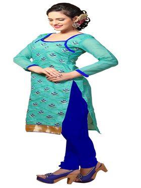 Khushali Fashion Chanderi Embroidered Unstitched Dress Material -SSKV41009