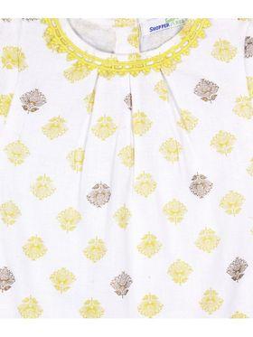 ShopperTree Printed Yellow Cotton Twin set-ST-1655