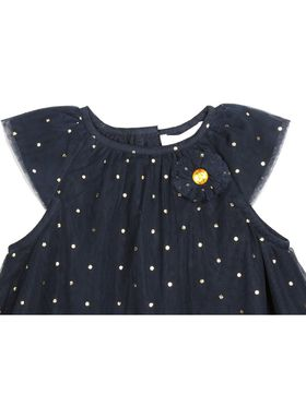ShopperTree Solid Navy Blue Polyester Dress-ST-1691