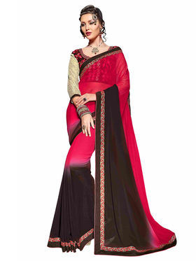 Khushali Fashion Georgette Embroidered Saree -Stast3203