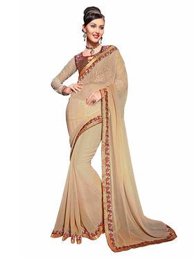 Khushali Fashion Georgette Embroidered Saree -Stast3209