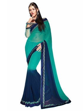 Khushali Fashion Georgette Embroidered Saree -Stast3211