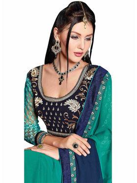 Khushali Fashion Georgette Embroidered Saree -Stast3211