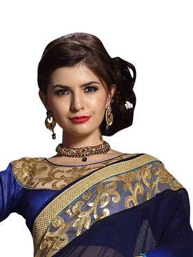 Khushali Fashion Georgette Embroidered & Embellished Saree -Stpnhr10001