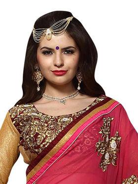 Khushali Fashion Georgette Foil Embroidered & Embellished Saree -Stpnhr10002