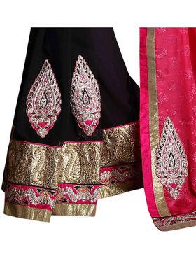 Khushali Fashion Georgette Embroidered & Embellished Saree -Stpnhr10012