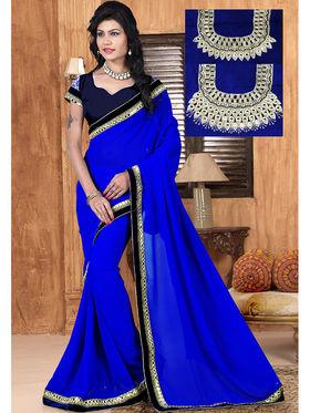 Viva N Diva Georgette Embroidered Saree Sangini-180